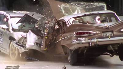 evolução dos crash tests bel air 1959 vs malibu 2009