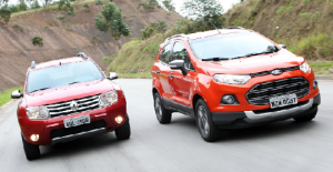 Ford EcoSport 2012 e Renault Duster 2012