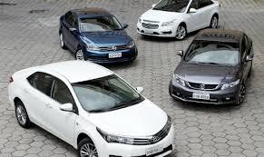 sedans medios mais vendidos no brasil