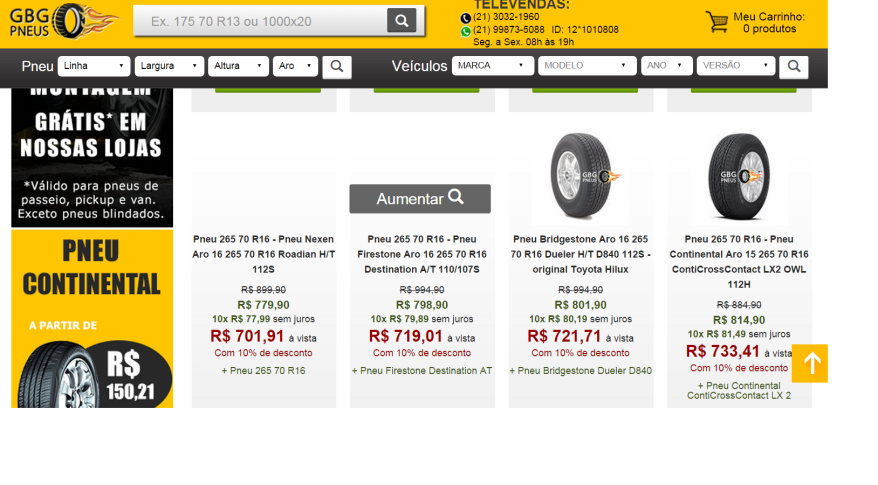 preço pneus suv
