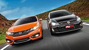 VW Golf GTI e Honda Civic Si, os dois esportivos mais conhecidos no Brasil