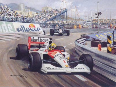 senna pole position mônaco 1989