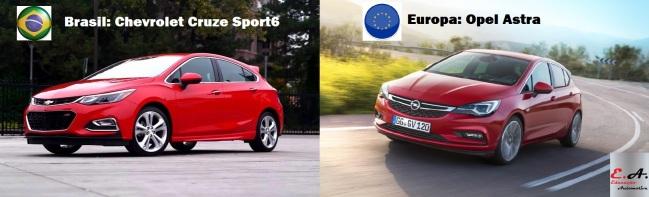 chevrolet cruze sport6 opel astra educação automotiva