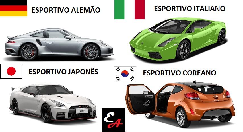 esportivo alemão italiano americano japonês coreano educação automotiva