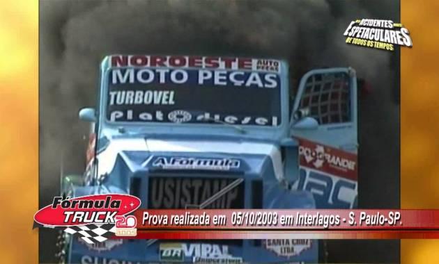 mad macarrão o mito da fórmula truck caminhão pegando fogo interlagos 2003