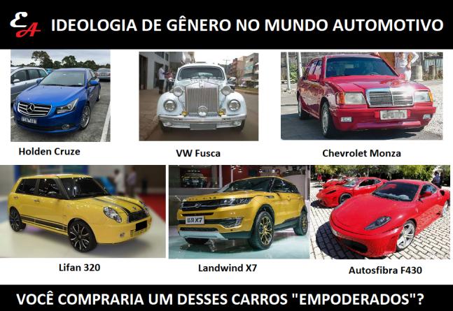 explicando ideologia de gênero usando carros