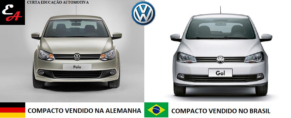 por que os carros da vw são iguais polo gol brasil alemanha