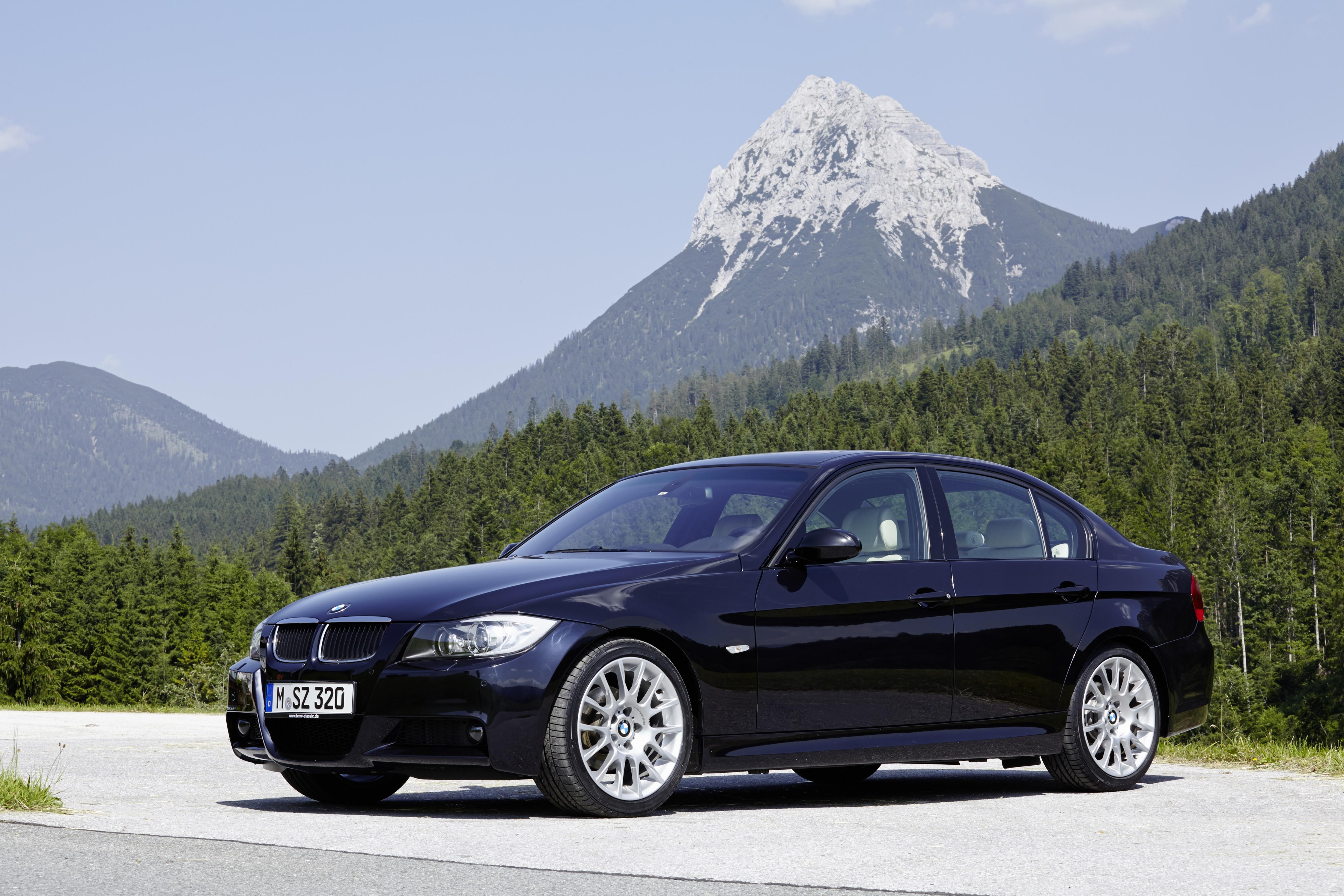 BMW na Suíça alpes