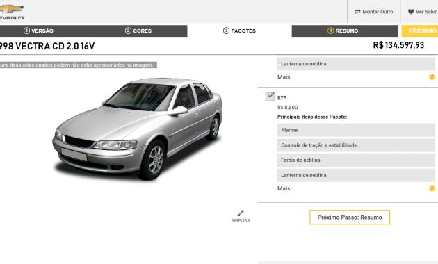 vectra 1998 preço atualizado para 2018
