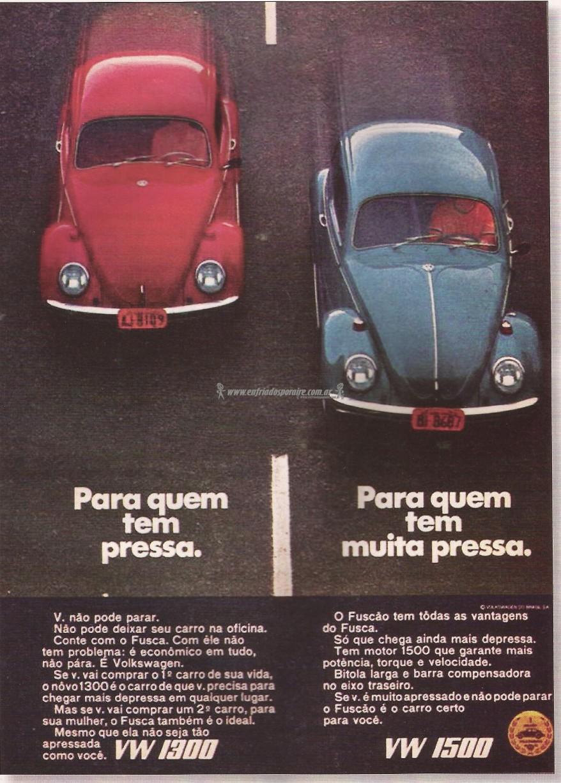 VW Fusca 1300 1500 publicidade